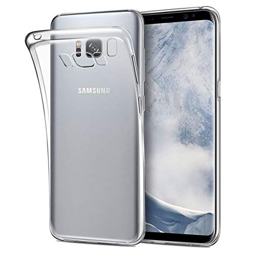 NEW'C Funda para Samsung Galaxy S8 Plus, Anti- Choques y Anti- Arañazos, Silicona TPU, HD Clara