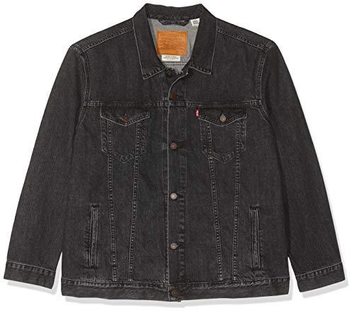 Levi\'s The Trucker Jacket Giacca in Jeans, Nero (Fegin 0305), X-Small Uomo