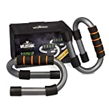WildStage Fitness Push Up Bar - Barra para flexiones (antideslizante, incluye libro de...