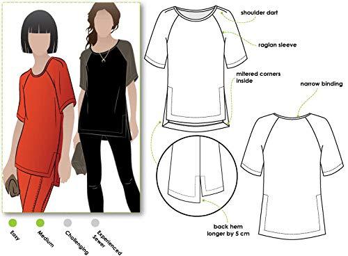 Style Arc naaipatroon - Meg Raglan Tee Sizes 18-30
