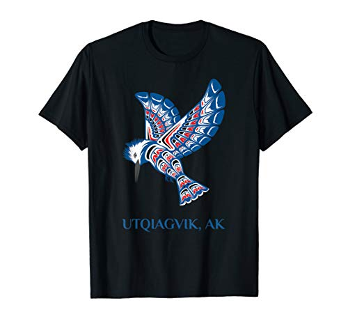 Utqiagvik Alaska Kingfisher Native American Indian Bird T-Shirt