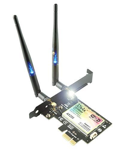 WiFi 6 AX200 PCIe WLAN Karte | Max 3000Mbit/s mit Bluetooth 5 | 802.11AX Dual Band Wireless Adapter mit MU-MIMO,OFDMA,Ultra-Low Latency | Unterstützt nur Windows 10, 64bit