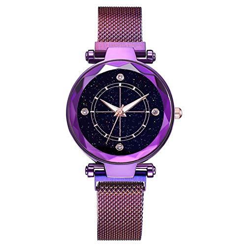 XiZiMi Reloj de Cuarzo Starry Sky Quartz Wrist Reloj de Muje