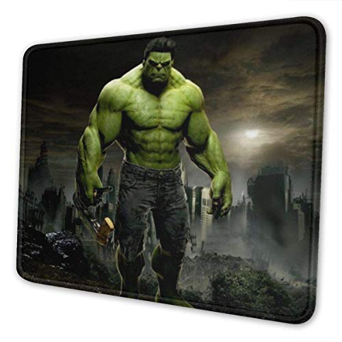 XCNGG Alfombrilla para ratón Hulk Mouse Pad Mat Gaming Unique Custom Mousepad, Computer Keyboard, Stitched Edges, Office Ideal for Desk Cover, Large Mouse Pats, Laptop and PC 7.9 x 9.5 in