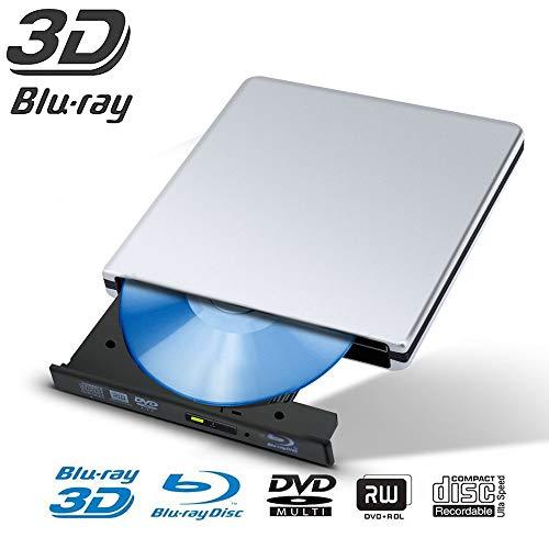 H-way Externe CD/DVD USB 3.0 Graveur Lecteur DVD Externe Portable CD DVD +/-RW ROM Player Compatible Windows 10/8 / 7 / XP/Vista, Laptop, Mac, Macbook Air/Pro, Desktop, PC