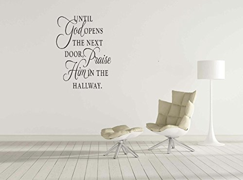 Braverquotes Vinyl Art Mural Wall Quote Saying Stickers Decals Home Decor Praise Him in The Hallway