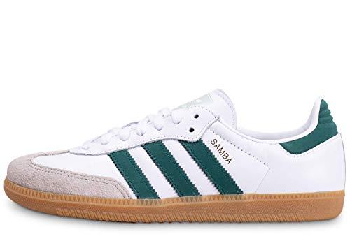 Adidas Schuhe Samba OG Footwear White-Collegiate Green-Vapour Green (EE5451) 44 Weiss