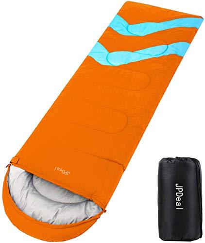 JPDeal 寝袋,シュラフ 封筒型 軽量 保温 寝袋 コンパクト収納 アウトドア 登山 車中泊 防災用 災害時 避難用 丸洗い 快適温度-5度-25度 1.4kg 寝袋 オールシーズン使えます 収納袋付き (ブラック)
