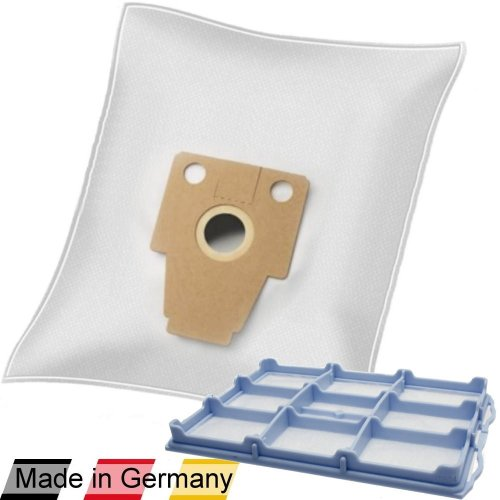 10 DeClean Staubsaugerbeutel + 1 Motorschutzfilter für Bosch Ergomaxx professional 1000 BSG81000/10