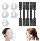5soportes 3D lavables para mascarillas y tiras de extensión, marco de apoyo interior para mayor comodidad y conservar el lápiz labial (KB05)