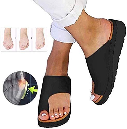 KIDsstz Damen Sandalen Hausschuhe Big Toe Hallux Valgus Für Die Behandlung Frauen Open Toe Flache Pantoffeln Sommer Outdoor Damen Strand Schuhe rutschfeste Badelatschen