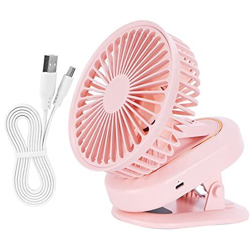 SALALIS Ventilador eléctrico, Ventilador Giratorio Ventilador de Mesa con 3 Engranajes para Verano para Exteriores(Rosado, Tipo de Torre Inclinada de Pisa)