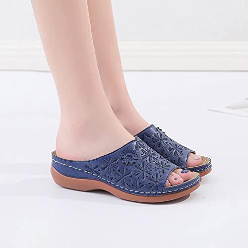 ypyrhh Hombres Verano Flip-Flop Sandalias,Cuña con Sandalias de Mujer, Use Zapatos Ligeros de Playa.-marrón_38,Sandalias Playa