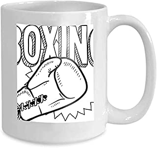 Tasse à café tasse à thé maison boxe croquis moderne 110z