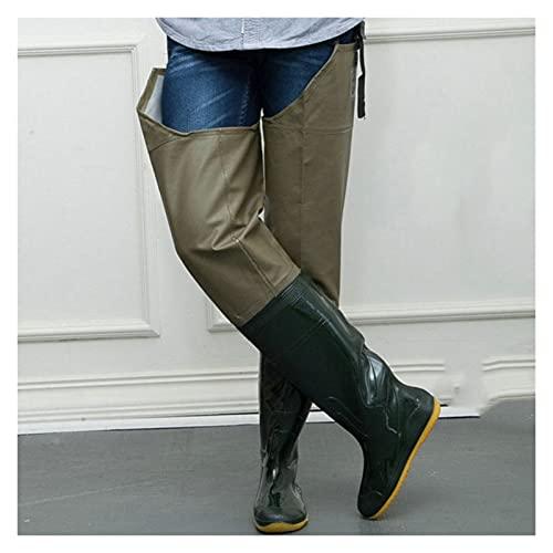Botas Blandas de PVC Impermeables de Pesca Pantalón Aparato Pantalón Aire Libre Afilado Waders (Color : Size 39)