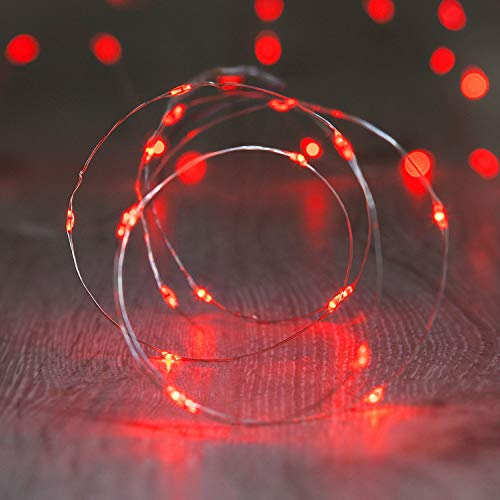 XINKAITE String Lights, Waterproof LED String Lights, Fairy String Lights Starry String Lights for Indoor& Outdoor DIY Decoration Home Parties Christmas Holiday (10FT/3Meters, Red)
