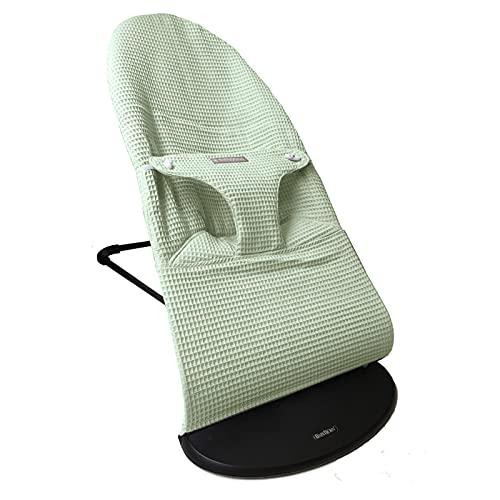 Funda para hamaca de bebé en tejido de wafle es compatible con la hamaca Babybjorn y se puede quitar y poner de manera sencilla para poder lavarla (Mint)
