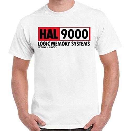 HAL 9000 Retro Cult Movie 2001 A Space Odyssey Cool Vintage Retro T Shirt,White,2XL
