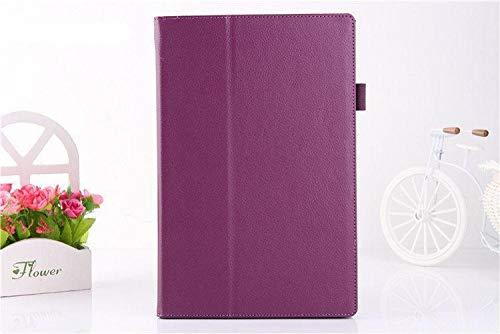 Stand Flip Folio Lederhülle für Sony Xperia Z Z1 Tablet 10,1 Zoll Hülle für Sony Xperia Z2 Tablet Hülle-Lila