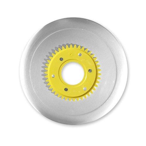 Schinkenmesser elektrolytisch poliert gelb für RITTER Multischneider compact 1, markant 01, markant 05 / Allesschneider / Messer / Ersatzmesser / Aufschnittmesser