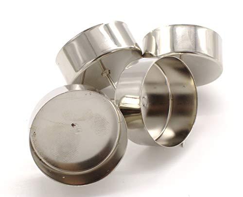DARO DEKO Teelichthalter Stecker 4 Stück aus Metall in Silber