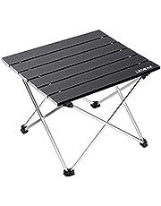 Ledeak draagbare campingtafel, lichtgewicht klaptafel met aluminium tafelblad en draagtas, gemakkelijk mee te nemen, Prefect voor buiten, picknick, koken, strand, wandelen, vissen