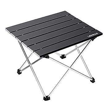 Ledeak Table de Camping, Pliante Table Alliage d'aluminium Ultra-légère Portable avec Sac de Transport, Facile à Nettoy, pour Les activités en Plein air, Pique-Nique, Cuisine, Plage, Randonnée