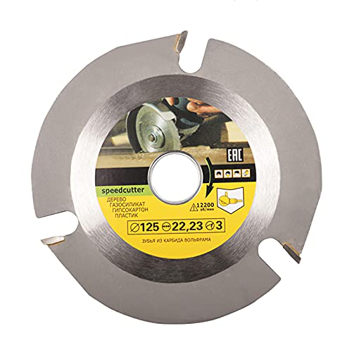 Nachar Amoladora de madera para tallar, disco de sierra circular para amoladora de ángulo de 4 o 4-1/2, motosierra, muela de cadena de la hoja circular para cortar, esculpir y moldear, 125 x 22,23 mm