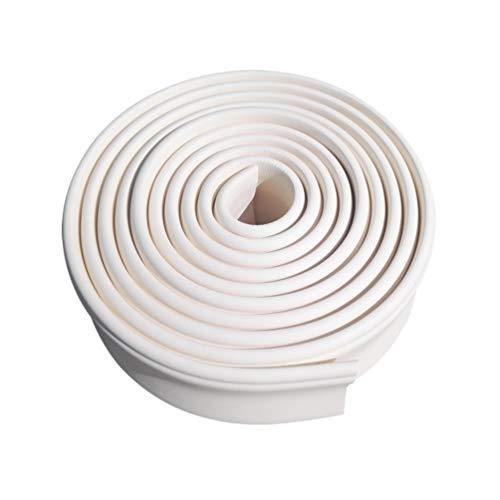 BESPORTBLE Autoadhesivo Zócalo Pegatinas de Línea de Esquina Pegatina de Bordes de Pared Pegatinas de Borde de Pared Papel Tapiz para Decoración del Hogar 500X10cm (Blanco)