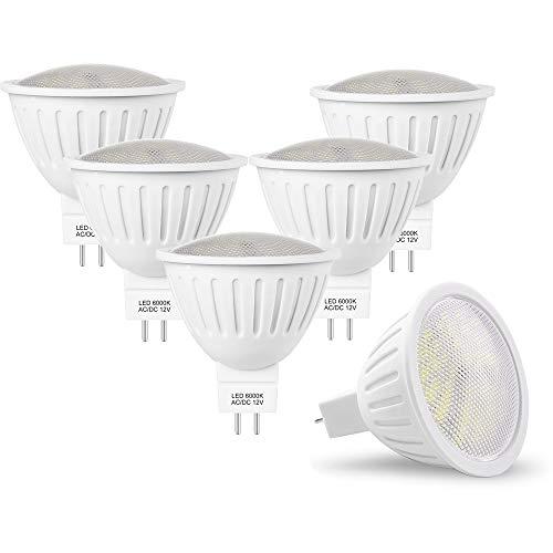 7W Gu 5.3 Led Mr16 12v Spot Lampe, 50 65W Halogenlampe Äquivalent, GU 5.3 Sockel Glühlampen 700lm Kaltweiß 6000K Nicht Dimmbar, 120° Abstrahlwinkel Energiesparlampe, 6er Pack
