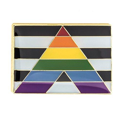 Gay & Lesbian Pride Rainbow LGBT LGBTQ Flag Lapel Pin (Gay Straight Alliance Ally Flag)
