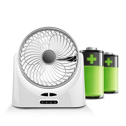 Ventilador USB Portátil - Mini Ventilador De Mesa - Ventilador Silencioso - Ajustable De 3 Velocidades, para Oficina, Hogar, Viajar, Acampar, Ventilador De Circulación De Aire(Blanco)