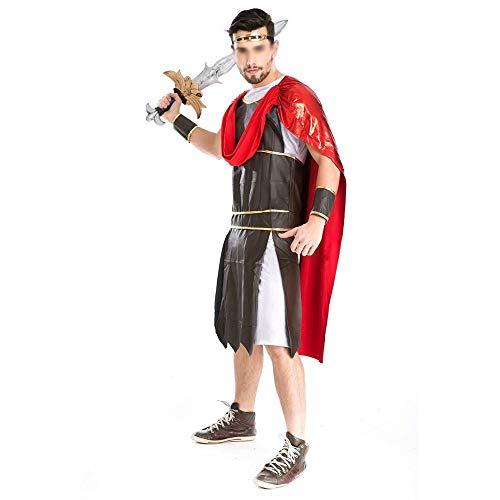 Modische Halloween-Kostüme, Herrlich und Festliche Halloween-Kostüme Halloween spielen altgriechischen Mythologie Gott des Krieges Stil Gladiator Krieger Kostüm-Parteiuniformen Komfortabel, voller Cha