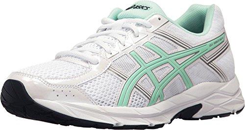 ASICS Women's Gel-Contend 4 Running Shoe, White/Bay/Silver, 3.5 UK