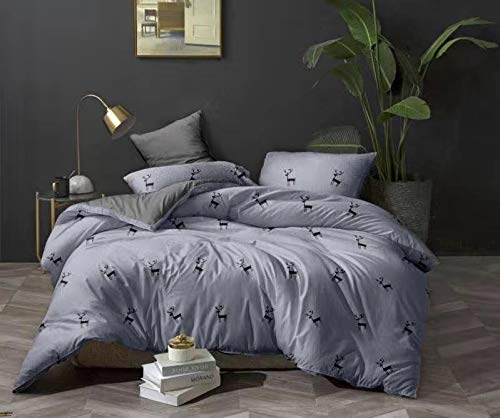 SDIII 2 Pieces Buddha Bedding Sets Buddhist Lotus Duvet Cover Twin Size Purple Bed Cover Fade,Stain, Shrink and Wrinkle Resistant