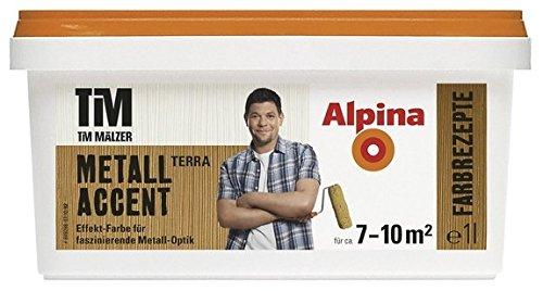 Alpina, Tim Mälzer Farbrezepte, Metall Accent Terra, 1 L., Effekt-Farbe, Wandfarbe
