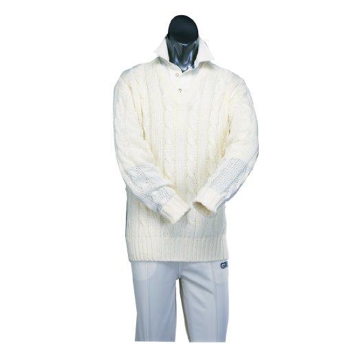 Gunn & Moore Cricket-Pullover. L cremefarben