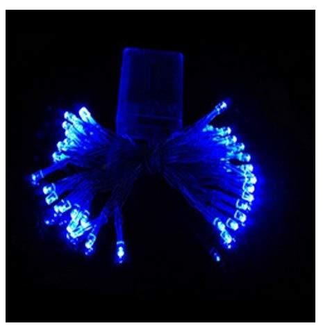 LILITRADE - Guirnalda de luces LED para interiores y exteriores, luz blanca cálida, 40 LED, funciona con pilas, con temporizador remoto para decoración de habitaciones