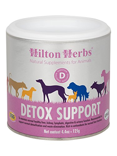 Hilton Herbs Canine Detox Support Herbal Liver Function Supplement for Dogs, 4.4 oz Tub