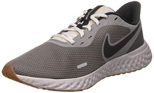 Nike Herren Revolution 5 Leichtathletikschuhe, Schwarz (Smoke Grey/Dk Smoke Grey/Photon Dust/Mtlc Copper/Gum Med Brown), 43 EU