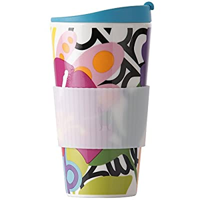 French Bull Porcelain Travel Mug With Top