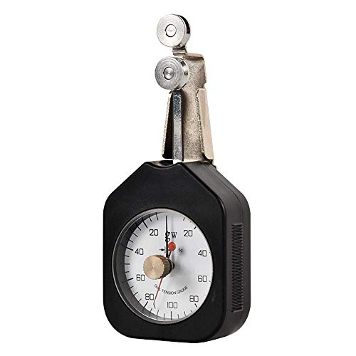 WYZXR Medidor de tensión Textil Tensiómetro Textil Tensiómetro de presión de dial analógico de Aguja Doble Herramientas de medición de Fuerza mecánica Rango 250-20-250