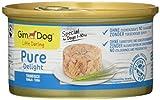 GimDog Pure Delight, atún - Snack para perros rico en proteínas, con pescado tierno en deliciosa gelatina - 12 latas (12 x 85 g)