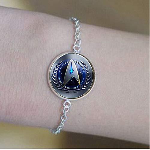 Star Trek Original Series Command Symbol Französischer Draht Halskette Armbänder Positive Nachricht Schmuck