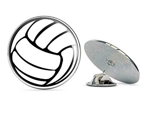 NYC Jewelers Round White Volleyball Shape Window (car ic) Metal 0.75