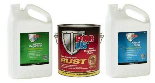 por- 15 Cleaner Degreaser/Metal Prep/Semi Gloss Black 3 Gallon Kit 103