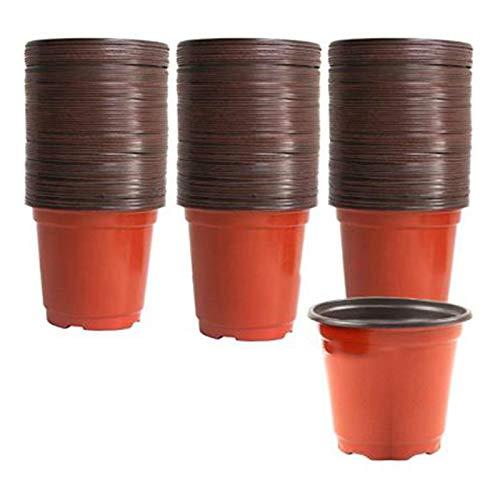 SODIAL 150Pcs 10X9Cm Macetas de Vivero de Plantas Macetas Redondas Peque?As Macetas de Plantas Suculentas Engrosadas una Sola Vez