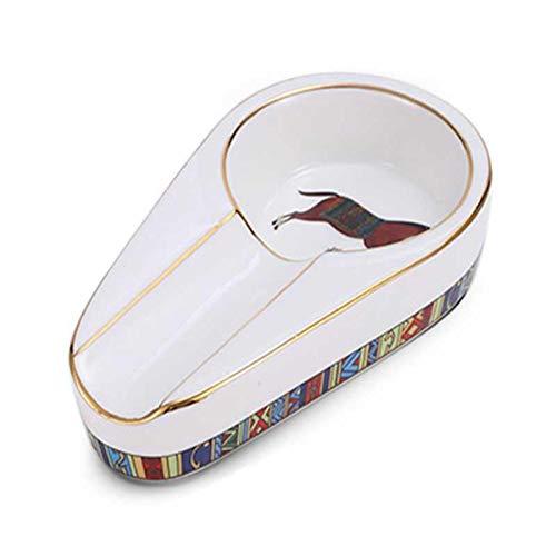 WXHXSRJ Cenicero para cigarros, cenicero de cerámica clásico Individual, para Exteriores o Interiores,White Horse