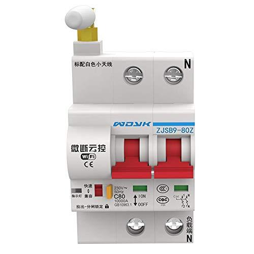 Interruttore di circuito a due poli e controllo remoto WiFi Smart tramite App (eWeLink), EMC Safe Home (16-125 A)