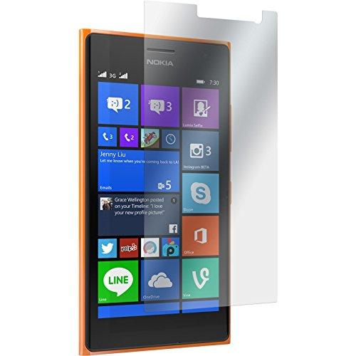 PhoneNatic 2 x Pellicola Protettiva Trasparente Compatibile con Nokia Lumia 730 Pellicole Protettive